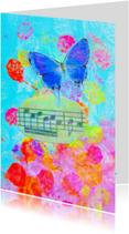 Kunstkaarten - Listen to a butterfly