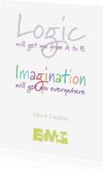Spreukenkaarten - Logic and imagination - staand