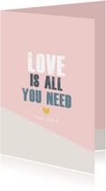 Religie kaarten - Love is all you need -BF