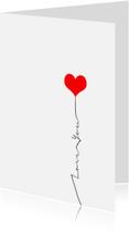Liefde kaarten - Love you balloon