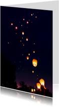 Sterkte kaarten - Lucht vol Wensballonnen