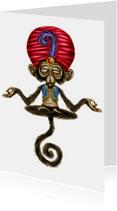 Dierenkaarten - meditatie-aap