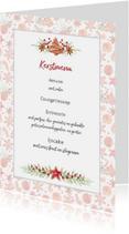 Menukaarten - Menukaart Kerst vrolijke kerstkoekjes