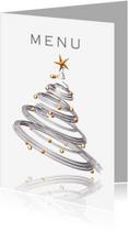 Menukaarten - Menukaart kerstdiner