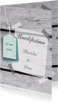 Menukaarten - Menukaart Label eigen tekst
