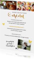 Menukaarten - Menukaart staand met foto en gouden letters