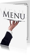 Menukaarten - Menukaart waiter
