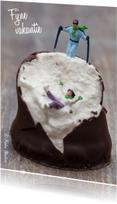 Vakantiekaarten - Miniatuur poppetjes op Buys Zoen