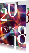 Nieuwjaarskaarten - Moderne nieuwjaarskaart 2018 rood