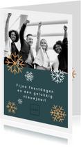 Zakelijke kerstkaarten - Moderne, stijlvolle zakelijke kerstkaart met eigen foto