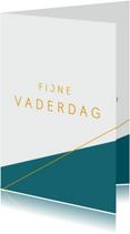 Vaderdag kaarten - Moderne strakke vaderdag kaart petrol
