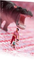 Moederdag kaarten - Moeder, kind, nijlpaard
