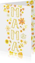 Moederdag gouden bloemen