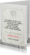 Moederdag kaarten - Moederdag Houten Tekstbord
