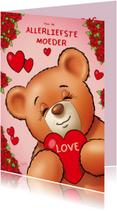 Moederdag kaarten - Moederdag kristy's 1 hart - RN