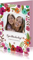 Moederdag kaarten - Moederdag met bloemen en foto
