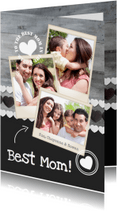 Moederdag kaarten - Moederdag Polaroids Hout Hartjes