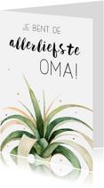 Moederdag kaarten - Moederdagkaart: Allerliefste oma!