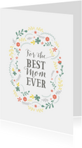Moederdag kaarten - Moederdagkaart best mom letters