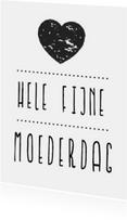 Moederdag kaarten - Moederdagkaart Hartje Hip poster