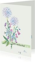 Moederdag kaarten - Moederdagkaart waterverf-bloemen