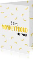 Zomaar kaarten - Monkeyproud of you wit - DH