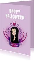 Halloween kaarten - Morticia Illustratie - KO