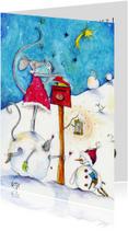 Kerstkaarten - Muizen kerstkaartje 5