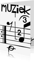 Zomaar kaarten - Muzieknoten