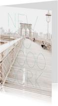 Vakantiekaarten - New York Brooklyn Bridge reis