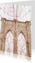 Vakantiekaarten - New York typografie trend kaart