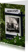 Verhuiskaarten - nieuw bord plaats foto en tekst