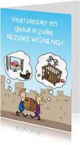 Felicitatiekaarten - Nieuwe Woning Denkwolken