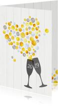 Nieuwjaarskaarten - Nieuwjaar Hartverwarmende Proost