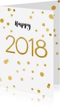 Nieuwjaarskaarten - Nieuwjaarskaart 2018 confetti