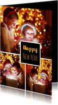 Nieuwjaarskaarten - Nieuwjaarskaart fotocollage 3-luik 2019