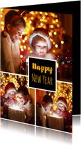 Nieuwjaarskaarten - Nieuwjaarskaart fotocollage 3luik 2018
