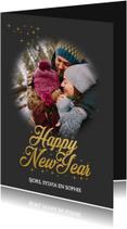 Nieuwjaarskaarten - Nieuwjaarskaart Happy New year love