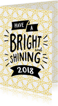 Nieuwjaarskaarten - Nieuwjaarskaart Have a Bright and shining new year