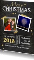 Nieuwjaarskaarten - nieuwjaarskaart krijtbord ster av