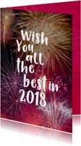 Nieuwjaarskaarten - Nieuwjaarskaart met knallend vuurwerk