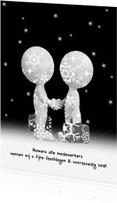 Nieuwjaarskaarten - Nieuwjaarskaart relaties zw/w