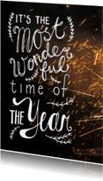 Nieuwjaarskaarten - Nieuwjaarskaart vuur werk