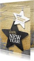 Nieuwjaarskaarten - Nieuwjaarskaart zakelijk ster
