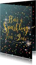 Nieuwjaarskaarten Have a sparkling new year
