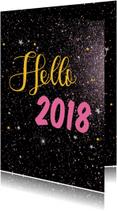 Nieuwjaarskaarten - Nieuwjaarskaarten Hello 2018