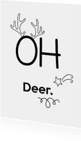 Kerstkaarten - Oh Deer