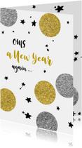 Nieuwjaarskaarten - Nieuwjaarskaart grappig - OMG New Year again