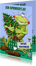 Beterschapskaarten - Opkikker met kerstboom - HE