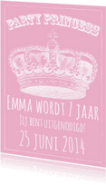 Kinderfeestjes - Party Princess Uitnodiging